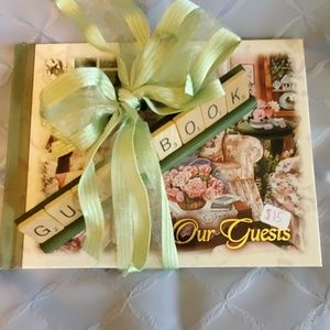 NWT Guestbook w/scrabble sign